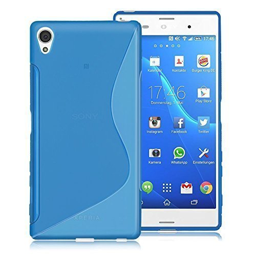 Connection Zone Sony Xperia Z5 Mini Compact S Ligne Silicone Gel Étui + Protection Ecran Protection Et Polissage Chiffon