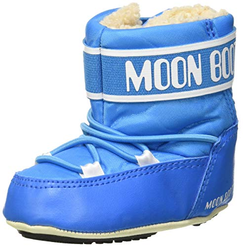 Moon-boot Unisex-Kinder Crib 2 Schneestiefel, Blau (Azzurro 001), 21/22 EU
