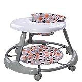 bébé marcheur poussette 7-18 mois bébé Empêchez rollover pliable Grand châssis respirant la sécurité Mode mignon ( couleur : Gray )