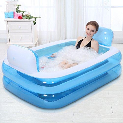 Inflable baño, la bañera se pliega, bañera de adultos engrosada bañera barril del baño de plástico.