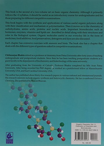 Organic Chemistry Volume 2: Chemistry of Polymers and Biomolecules
