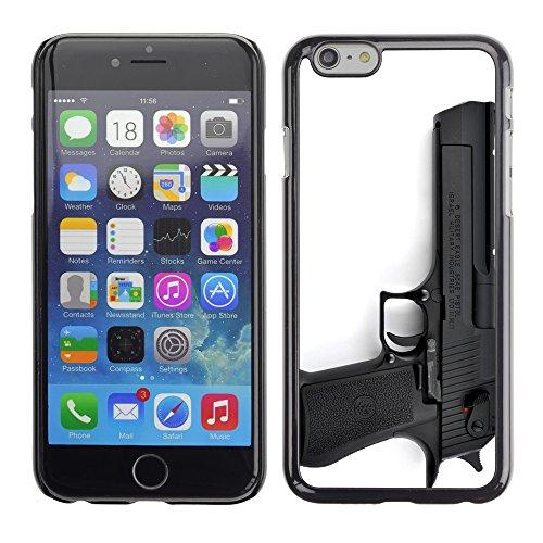 Graphic4You Schwarz Desert Eagle Pistole Feuerwaffe Design Harte Hülle Case Tasche Schutzhülle für Apple iPhone 6 / 6S Design #6