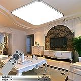 WYBAN 36W Energiespar LED Ultradünn Dimmbar Deckenleuchten Panel mit Fernsteuerung (3000K-6500K) Für Schlafzimmer Deckenlampen Wohnzimmer Wandlampe [Energieklasse A+]