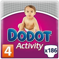 Dodot Activity, Talla 4, 186 pañales