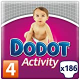 Dodot Activity, Talla 4, 186 pañales
