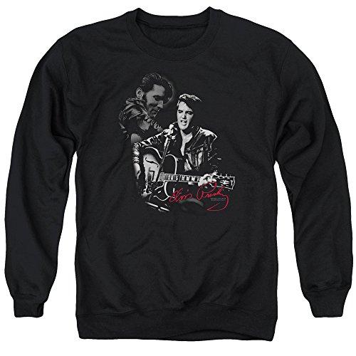 Elvis - Herren Stopper Pullover, XXX-Large, Black (Elvis Sweatshirt)