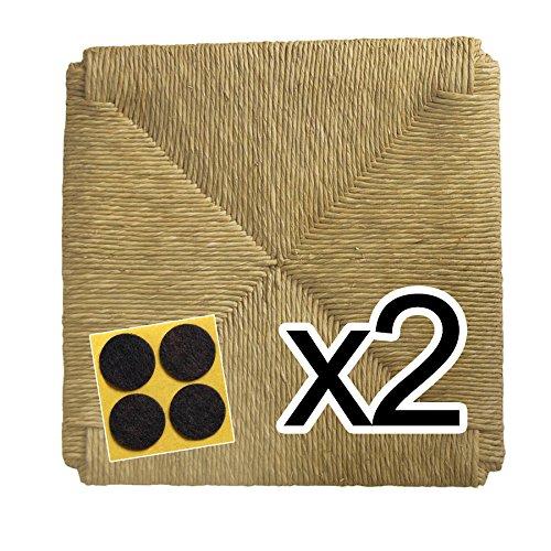 Fondi in paglia 37x37cm con angoli (mod. 998 zf) ricambi per sedia impagliata [set di due] + feltrini in omaggio