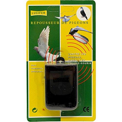 LUCIFER - Repousseur anti pigeon à ULTRASONS à piles pour OISEAUX CHAUVE SOURIS