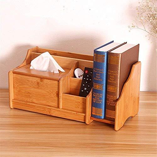 Generic Deskto Boîte de Rangement en Bambou avec télécommande pour Bureau ou Table