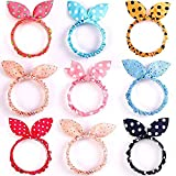 10pcs Cute Girls Rabbit Ear Hair Tie Bands Ropes Ponytail Holder Ties(10pcs) Club