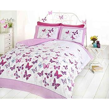 art butterfly duvet cover quilt bedding set pink king