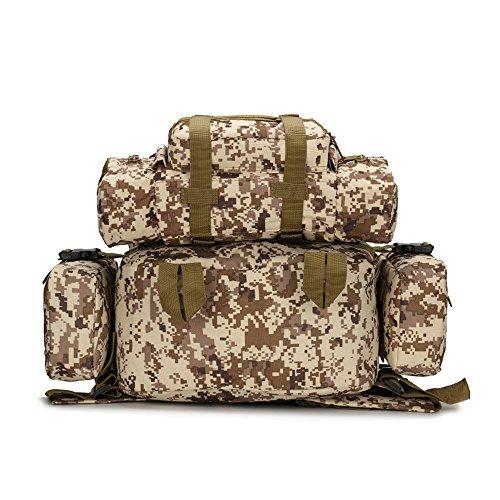 dohot groß, wasserdicht Military Army Patrol MOLLE Assault Pack Tactical Rucksack Tasche für Wandern Camping, 60l Desert Digital