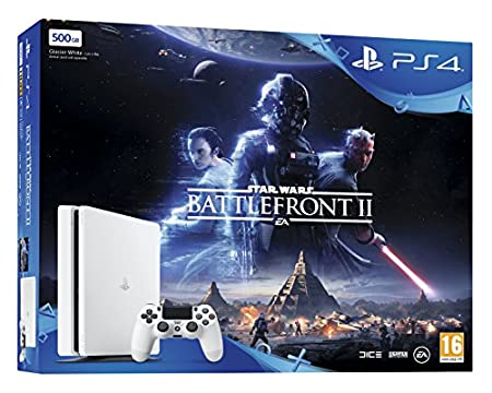 Sony PlayStation 4 500 GB White Star Wars Battlefront II Bundle
