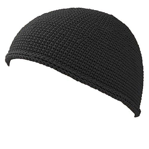 Casualbox Herren Schädel Mütze Islam Beanie Hut Hand gemacht fest Mode Schwarz