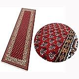 Teppich Orient Läufer Mir Rot Cream 80x290 cm 100% Wolle Handgeknüpft