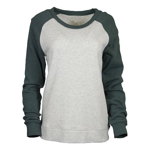 Ouray Sportswear Cozy Crew, Oatmeal Heather/Athletic Hunter Heather, Small - Hunter Sweatshirt Jumper