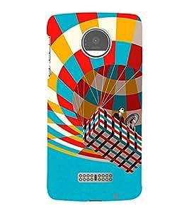 Fiobs Designer Back Case Cover for Motorola Moto Z :: Motorola Moto Z Droid in USA (Hot Air Balloon Colorfull Square )