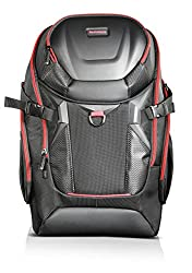 Lenovo Y Gaming Active Backpack (Y Gaming Design, Notebooks bis zu 17 Zoll, Extrafach für Gaming-Headset) schwarz-rot