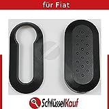 NEU - Fiat Cover Case Schlüssel Fernbedienung Schlüsselgehäuse Hülle - Farbe: schwarz
