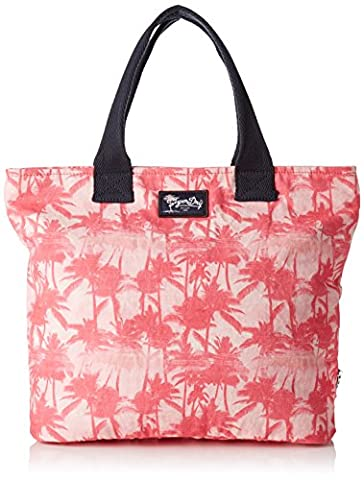 Superdry Women's Summer Time Tote Cross-Body Bag white Bianco (Mermaid Palm Pink)