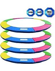 Coussin de protection pour trampoline rond de Ø 245cm 305cm 366cm 396cm 430cm 8FT 10FT 12FT 13FT 14FT destiné au remplacement-- Sans FiletMulticolore ( Bleu, Rose, Vert, Quatre Couleurs )