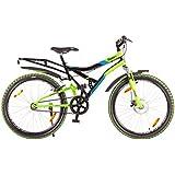 Hero Sprint 26T Winner 18-inch Frame Single Speed Adult Cycle (Black/Green)