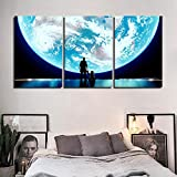 NVSHENY-LOVED wanddekor Overwatch Videospiel Hd Drucke Malerei 3 Stück Super Moon Wohnkultur Bilder Wandkunst Cartoon Modulare Leinwand Poster Kinderzimmer