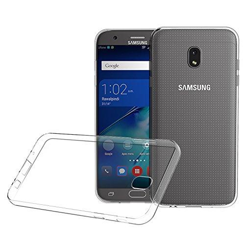 Custodia Samsung Galaxy J3 2017, ViViSun Protettiva Cover Custodia Silicone Case Molle di TPU Trasparente per Samsung J3 2017 [Non per 2015/2016]