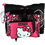 Hello Kitty Sweet Leopard Toiletry and Make Up Bag - 3 Piece