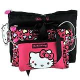 Hello Kitty-Sweet Leopard-3Pieces Toiletry & Make up Bag; 3Pieces & Make up Bag Set da toilette in the effigy of the Lovely Hello Kitty. Sweet Leopard Collection.; borsa da toilette Dimensions (cm): 24* 19* 5, Make up, dimensi...