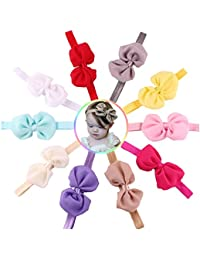 Skudgear Satin Baby Head Bands (Multicolour) - Pack of 10