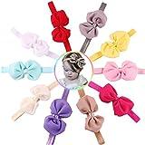 #9: Skudgear Jumbo Pack Of 10 Multicolor Satin Baby Headbands