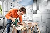 Bosch DIY Mini-Kreissäge PKS 16, Diamanttrennscheibe Ceramic, Kreissägeblatt Precision+Special, Staubsaugeradapter, Koffer (400 W, 16mm Schnitttiefenbereich bei 90°, KreissägeblattØ 65 mm) -