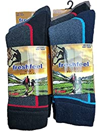 6 Pairs Fresh Feel Hike Boot Socks M10794 Mens 6-11