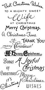 Auguri di Natale Christmas- Natale // Timbri trasparenti Clear Stamps Pack (10x18 cm) FLONZ