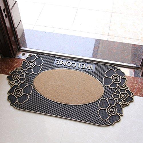 WINOMO Entrada felpudos alfombra goma interior alfombra de piso para casa oficina felpudos