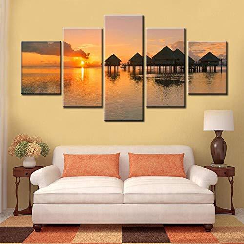 ASADVE HD Print Wall Modular Painting Hermoso hat EIN Bild von Sunrise Canvas-70x100_cm_unframed