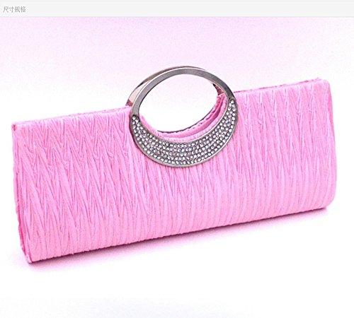 Eysee, Poschette giorno donna rosso Silver 28.5cm*11cm*4cm Pink