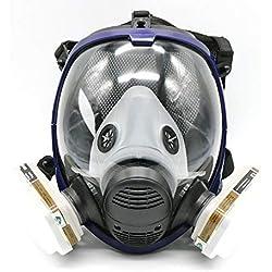 Masque de protection peinture et vernis 7 pièces équivalent Masque à gaz 6800 Masque de protection visage complet Masque respiratoire
