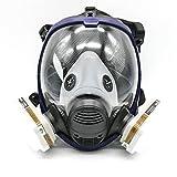 Masque de protection peinture et vernis 7 pièces équivalent Masque à gaz 6800...