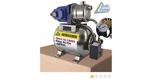 thermischem Motorschutzschalter und Manometer SS-1200-1 KREISELPUMPE mit integr 1200 Watt HAUSWASSERWERK HAUSWASSERAUTOMAT PUMPE mit DRUCKSCHALTER JETPUMPE SS-600-3