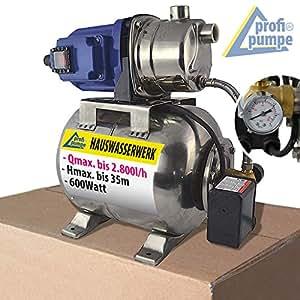 hauswasserwerk hauswasserautomat pumpe mit druckschalter jetpumpe ss 600 1 kreiselpumpe. Black Bedroom Furniture Sets. Home Design Ideas