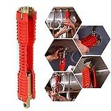Kobwa multifunzionale rubinetto lavello e chiave strumento di installazione, a doppia testa Change Tool attrezzo idraulico per tubo di acqua rubinetto per lavandino rubinetto da cucina WC Plumbing Red