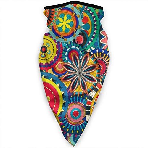 Bufanda larga y cálida para mujer con diseño de mandala