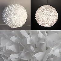 White Fluffy III, weiße Lampe Leuchte Lampenschirm Pendelleuchte Pendellampe Hängeleuchte Hängelampe Papierleuchte Papierlampe Reispapierlampe Designerlampe Wohnzimmerlampe Schlafzimmerlampe Deckenlampe