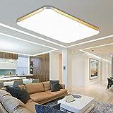 VINGO® 48W LED Deckenleuchte Deckenlampe Kaltweiß Wand-Deckenleuchte Wohnzimmer Esszimmer Küche 4320LM
