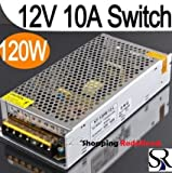 Shopping Redefined (TM) 12V 10Amp 120W Dc Power Supply Driver For Cctv And Led Strip Light Lamp 12 Volt 10A