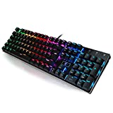 jkertech E-Element Z-88 RGB Mechanische Gaming Tastatur 105-Tasten Keyboard mit Blue Switch - QWERTZ-Layout (DE)