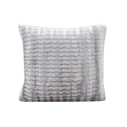 Decorie Simplicity Elegant Plush Throw Cushion Cover for Sofa Home Decor (Grey)