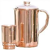 Wasserkrug aus reinem Kupfer, Kupferkrug für Ayuvery, Gesundheitsrituale, von HealthGoodsEU